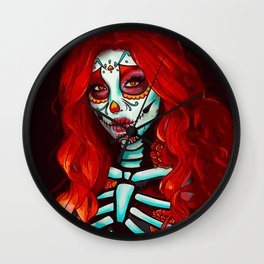 Day of the Dead (Red Head) Wall Clock