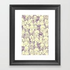 just alpacas purple cream Framed Art Print