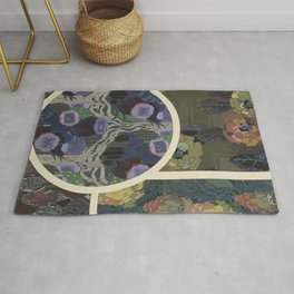 vintage art deco pattern Rug