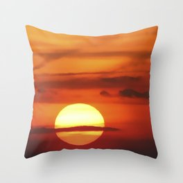 Sunset at Devil's Dyke (UK) Throw Pillow