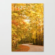 Just Around the Curve Canvas Print