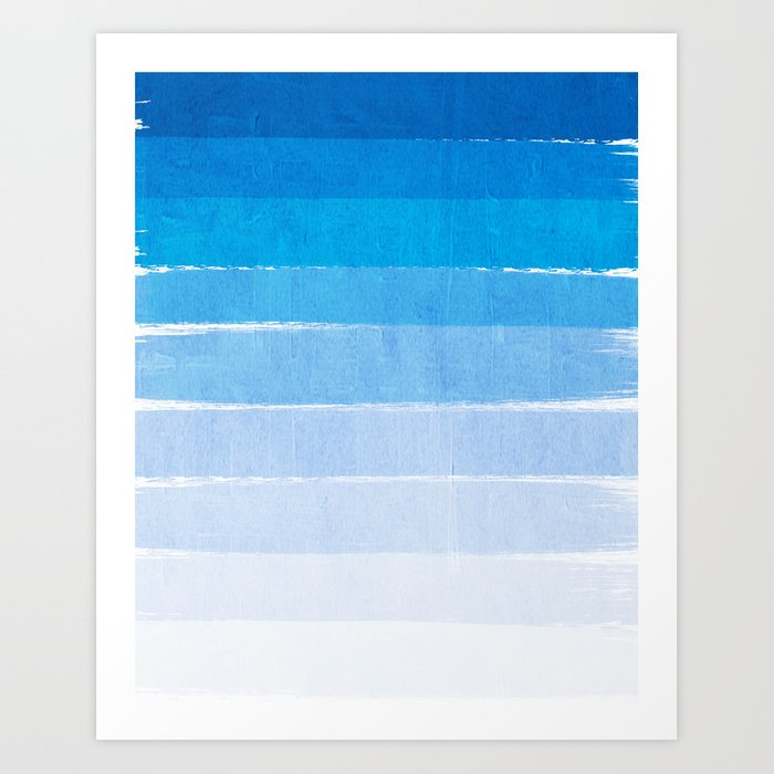 Blue Ombre Brushstroke Summer Beach Ocean Water La