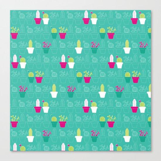 Mini Cactus Love Canvas Print