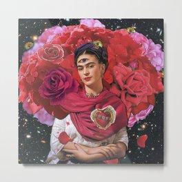 Space Rose Metal Print