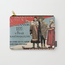 Czechoslav ethnographic exposition vintage ad Carry-All Pouch