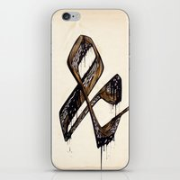 ampersand iPhone & iPod Skins featuring Ampersand by black out ronin