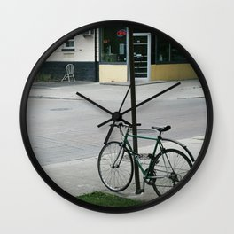 vintage city bike Wall Clock