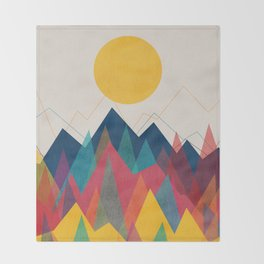 Uphill Battle Throw Blanket