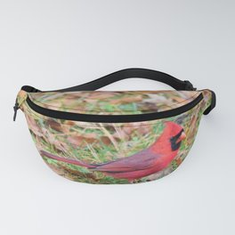 Autumn Leaves Cardinal Fanny Pack