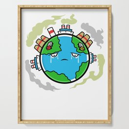 Earth Day Climate Change - Help Me Serving Tray