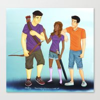 heroes of olympus Canvas Prints featuring The Heroes of Olympus, The Son of Neptune by Shaungart