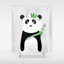 Be brave - panda Shower Curtain