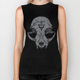 Cat Skull Biker Tank