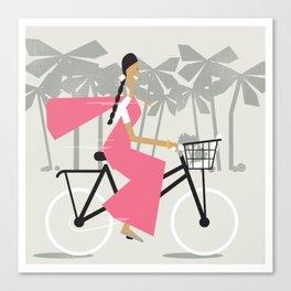 Saree Girl  Canvas Print
