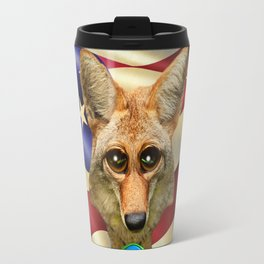 Patriotic Arizona GQ Coyote Travel Mug