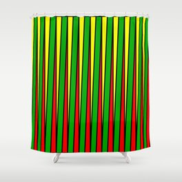 Kinetic Rasta Shower Curtain