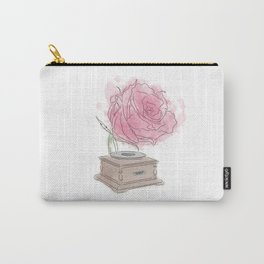 Rose Gramophone Carry-All Pouch