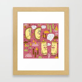 I'll take two tacos and two burritos please Framed Art Print
