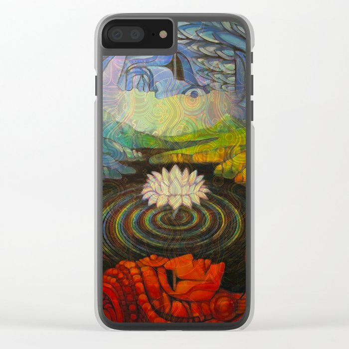 Earth-and-Sky Clear iPhone Case