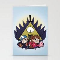 gravity falls Stationery Cards featuring Gravity Falls by Matt Tichenor