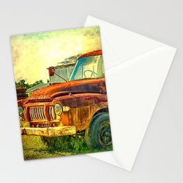 Old Rusty Bedford Truck Stationery Cards