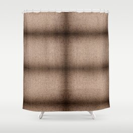 Beige burlap cloth texture abstract Shower Curtain