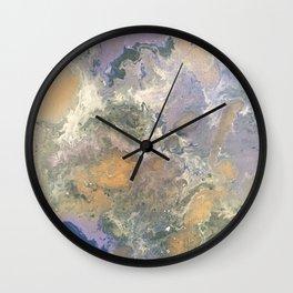 Fluid Purple Wall Clock