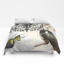 Vintage Chandelier Bird Flower & Butterflies Comforters