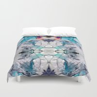 psych Duvet Covers featuring Transcends by Work the Angle