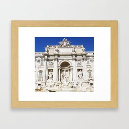 Make a Wish: Trevi Fountain in Rome, Italy Framed Art Print
