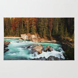 Natural Bridge Falls - Yoho, BC Rug