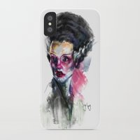 bride iPhone & iPod Cases featuring Bride by Saje Gary