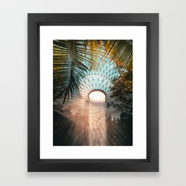 Singapore Changi airport Jewel water vortex sunrise Framed Art Print