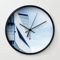 architecture Wall Clocks featuring Architecture by Jolanta Waniowska