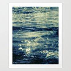 impressions of the sea Art Print