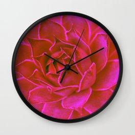 Suculenta Roja Wall Clock