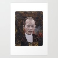 hunter s thompson Art Prints featuring Hunter S. Thompson by robertpriseman