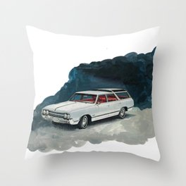 I'll let the light be black Throw Pillow