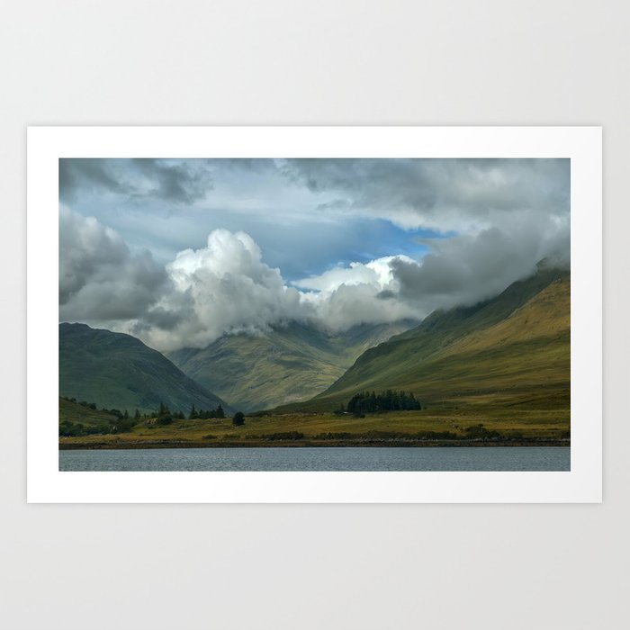 Cloudy afternoon in Connamara Art Print