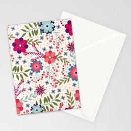 Beautiful Flower Pattern Art Stationery Cards