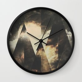 The mountains are awake Wall Clock