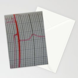 Scientific charts, cardiograms and mathematical calculations Stationery Cards