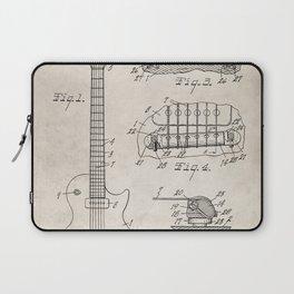 Gibson Guitar Patent - Les Paul Guitar Art - Antique Laptop Sleeve