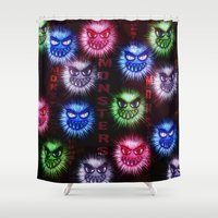 monsters Shower Curtains featuring Monsters by CLE.ArT.