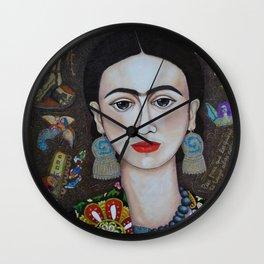 Frida thoughts Wall Clock