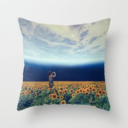 Picture of the world Throw Pillow