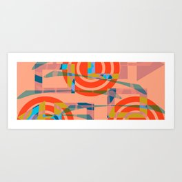 Color graphic fun Art Print