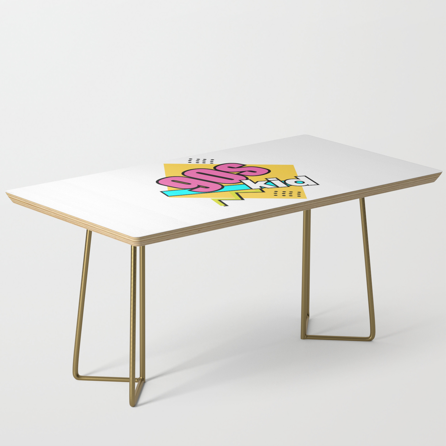 90 S Kid Retro Fun Geometric Coffee Table By Carolsalazar