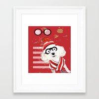 waldo Framed Art Prints featuring Wheres Waldo by grapeloverarts