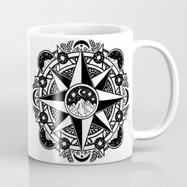 Journey to Moon Mountain | Black & Grays Coffee Mug